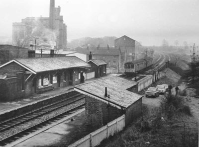 Bollington station in the 1960s