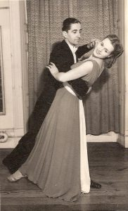 Rhoda with dancing partner Eric Whitehurst