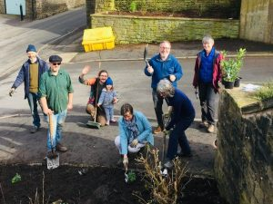 Community planting at the Civic hall